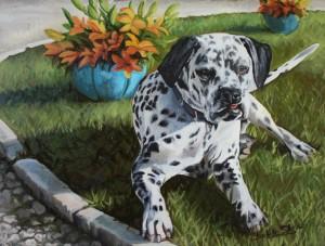 Ölportrait Hund